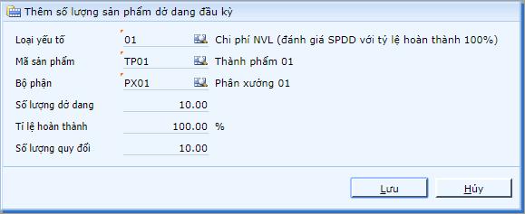 Cap nhat so luong san pham do dang dau ky